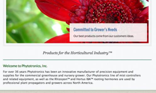 Phytotronics Website
