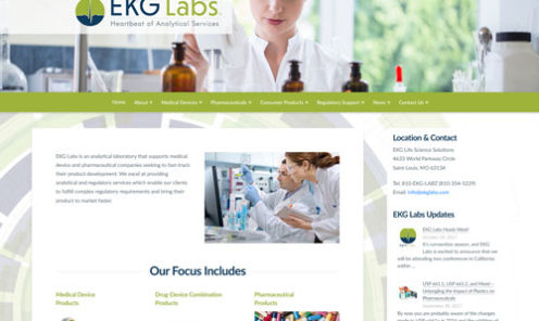 EKG Labs Website