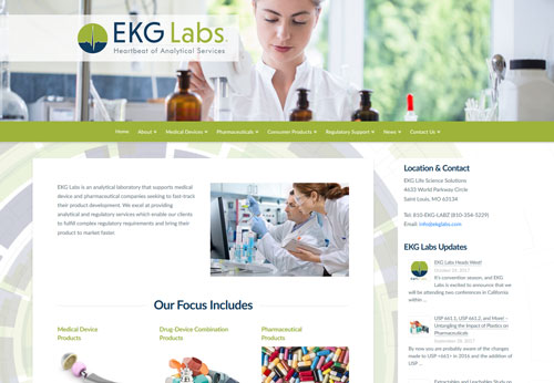 EKG Labs Website Developed By Las Cruces Web Development and Graphic Design Agency Sullivan Design