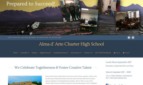 Alma d' Arte Charter High School Website