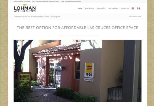 Lohman Atrium Suites Affordable Las Cruces Office Space Website by Web Developer Sullivan Design