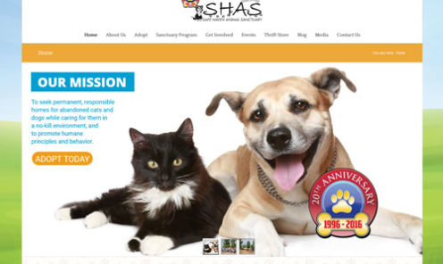 Safe Haven Animal Sanctuary Website