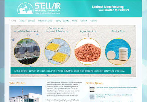 Stellar Manufacturing Company LLC Website Designed and Developed by Sullivan Design, LLC in Las Cruces NM